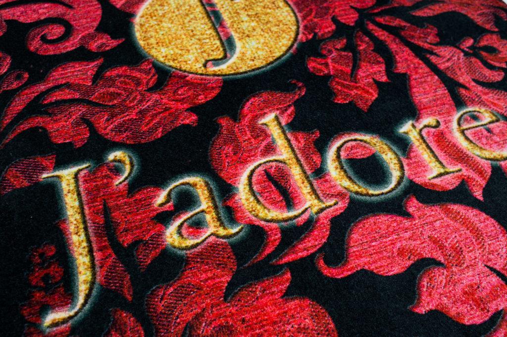 zerbino locale jadore a rosà, tappeto stampato ingresso, rotondo, quadrato tappeto rettangolare, tappeto misura extra